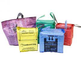 bespoke printed kerbside bag range with customisable colour
