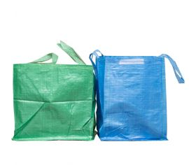 Blue and Green Reusable Recycling bags