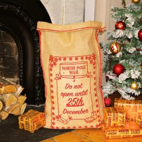 Traditional Hessian Christmas Sack – 25th December Design
