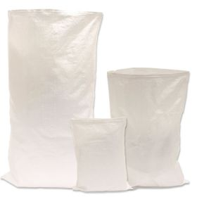 Cheap lightweight white woven sacks