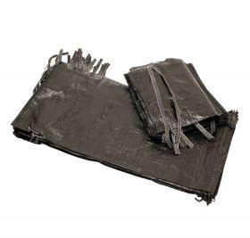 Black Woven Sandbags for Traffic Management