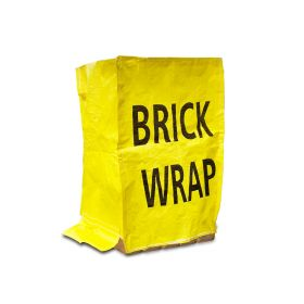 Brick Wrap keeps bricks dry when on site