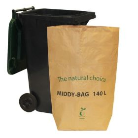Paper bin liners/durable paper refuse sacks