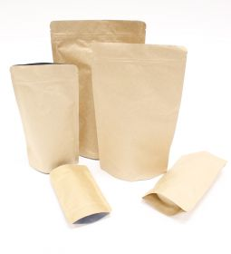 Plain Brown Pouches with Grip Seal Closure
