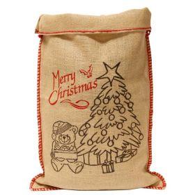 Vintage Jute Christmas Present Sack